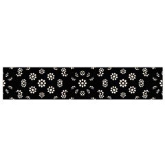 Dark Ditsy Floral Pattern Flano Scarf (small)  by dflcprints