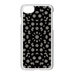 Dark Ditsy Floral Pattern Apple Iphone 7 Seamless Case (white) by dflcprints