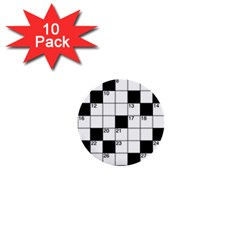 Crosswords  1  Mini Buttons (10 Pack)  by Valentinaart