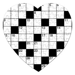 Crosswords  Jigsaw Puzzle (heart) by Valentinaart