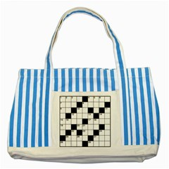 Crosswords  Striped Blue Tote Bag by Valentinaart