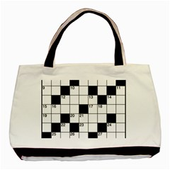 Crosswords  Basic Tote Bag (two Sides) by Valentinaart