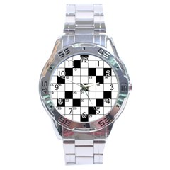 Crosswords  Stainless Steel Analogue Watch by Valentinaart