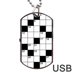 Crosswords  Dog Tag Usb Flash (one Side) by Valentinaart
