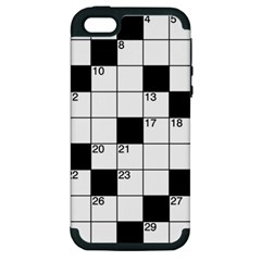 Crosswords  Apple Iphone 5 Hardshell Case (pc+silicone) by Valentinaart