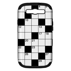 Crosswords  Samsung Galaxy S Iii Hardshell Case (pc+silicone) by Valentinaart