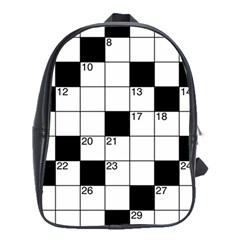 Crosswords  School Bags (xl)  by Valentinaart