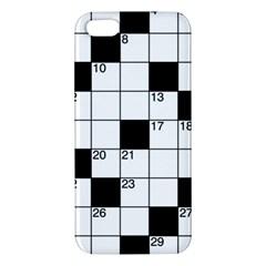 Crosswords  Iphone 5s/ Se Premium Hardshell Case by Valentinaart