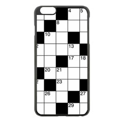 Crosswords  Apple Iphone 6 Plus/6s Plus Black Enamel Case by Valentinaart