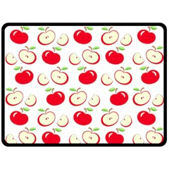 Apple Pattern Fleece Blanket (large)  by Valentinaart