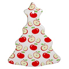 Apple Pattern Ornament (christmas Tree)  by Valentinaart