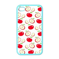 Apple Pattern Apple Iphone 4 Case (color) by Valentinaart