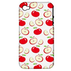 Apple Pattern Apple Iphone 4/4s Hardshell Case (pc+silicone) by Valentinaart