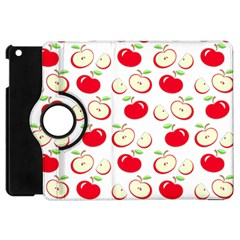 Apple Pattern Apple Ipad Mini Flip 360 Case by Valentinaart