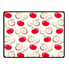 Apple Pattern Double Sided Fleece Blanket (small)  by Valentinaart