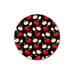Apple pattern Rubber Round Coaster (4 pack)
