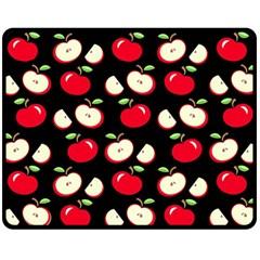 Apple Pattern Fleece Blanket (medium)  by Valentinaart