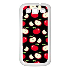 Apple Pattern Samsung Galaxy S3 Back Case (white) by Valentinaart