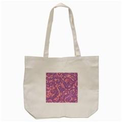 Pattern Tote Bag (cream) by Valentinaart