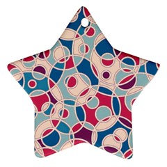 Pattern Star Ornament (two Sides) by Valentinaart
