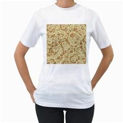 Pattern Women s T Shirt (white)  by Valentinaart