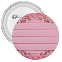 Pink Peony Outline Romantic 3  Buttons by Simbadda