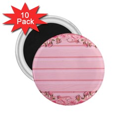 Pink Peony Outline Romantic 2 25  Magnets (10 Pack)  by Simbadda