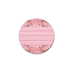 Pink Peony Outline Romantic Golf Ball Marker by Simbadda
