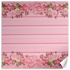 Pink Peony Outline Romantic Canvas 12  X 12   by Simbadda
