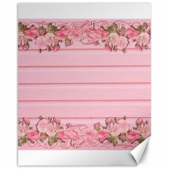 Pink Peony Outline Romantic Canvas 16  X 20   by Simbadda