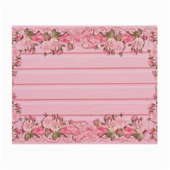 Pink Peony Outline Romantic Small Glasses Cloth (2 Side) by Simbadda