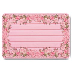 Pink Peony Outline Romantic Large Doormat  by Simbadda