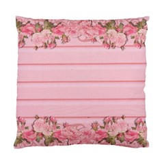 Pink Peony Outline Romantic Standard Cushion Case (one Side) by Simbadda