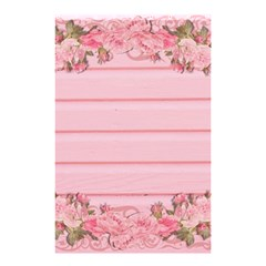 Pink Peony Outline Romantic Shower Curtain 48  X 72  (small)  by Simbadda