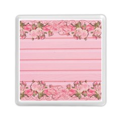 Pink Peony Outline Romantic Memory Card Reader (square)  by Simbadda