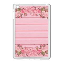 Pink Peony Outline Romantic Apple Ipad Mini Case (white) by Simbadda