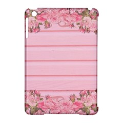 Pink Peony Outline Romantic Apple Ipad Mini Hardshell Case (compatible With Smart Cover) by Simbadda