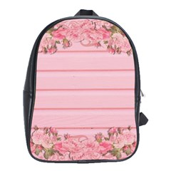 Pink Peony Outline Romantic School Bags (xl)  by Simbadda
