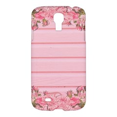 Pink Peony Outline Romantic Samsung Galaxy S4 I9500/i9505 Hardshell Case by Simbadda