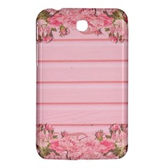 Pink Peony Outline Romantic Samsung Galaxy Tab 3 (7 ) P3200 Hardshell Case  by Simbadda