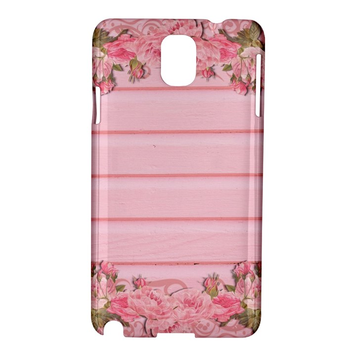 Pink Peony Outline Romantic Samsung Galaxy Note 3 N9005 Hardshell Case