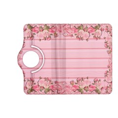 Pink Peony Outline Romantic Kindle Fire Hd (2013) Flip 360 Case by Simbadda