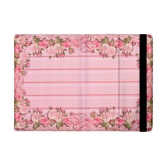Pink Peony Outline Romantic Ipad Mini 2 Flip Cases by Simbadda