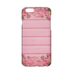 Pink Peony Outline Romantic Apple Iphone 6/6s Hardshell Case by Simbadda