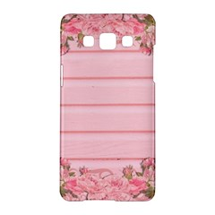 Pink Peony Outline Romantic Samsung Galaxy A5 Hardshell Case  by Simbadda
