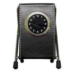Dark Lake Ocean Pattern River Sea Pen Holder Desk Clocks by Simbadda