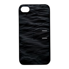 Dark Lake Ocean Pattern River Sea Apple Iphone 4/4s Hardshell Case With Stand by Simbadda