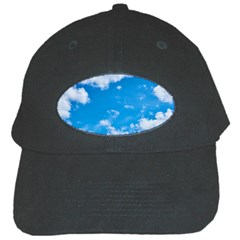 Sky Blue Clouds Nature Amazing Black Cap by Simbadda