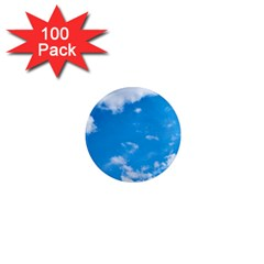 Sky Blue Clouds Nature Amazing 1  Mini Magnets (100 Pack)  by Simbadda