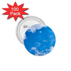 Sky Blue Clouds Nature Amazing 1 75  Buttons (100 Pack)
